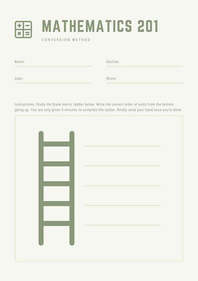 Green Ladder Math Games Worksheet