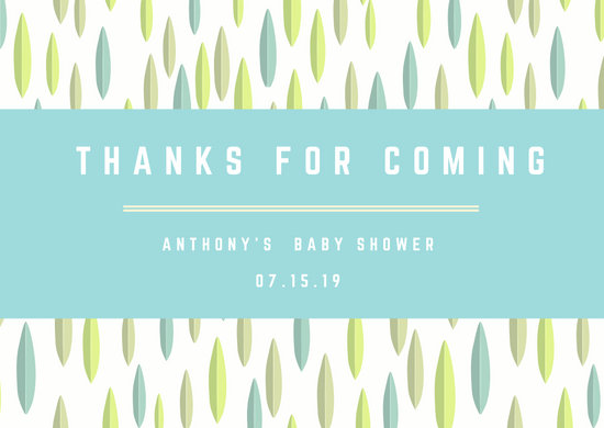 Leaves Baby Shower Thank You Card