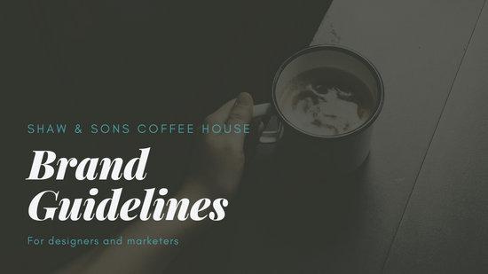 Teal and Brown Desserts Marketing Plan Presentation