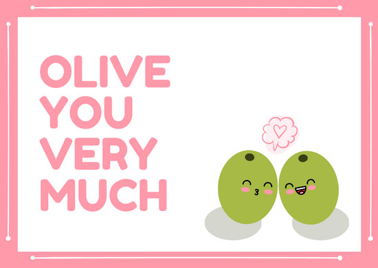 Pink and White Love Postcard