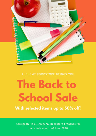 Colorful School Retail Store Sale Poster
