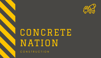 Grey and Yellow Truck Construction Business Card