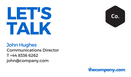 Basic Communications Director Business Card