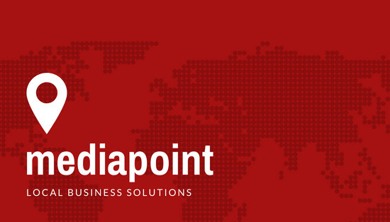 Red Map Corporate Company Business Card