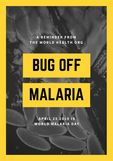 Black Yellow Mosquito Eggs World Malaria Day Poster