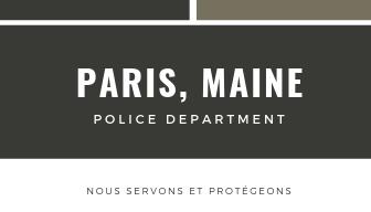 Black Modern Police Business Card