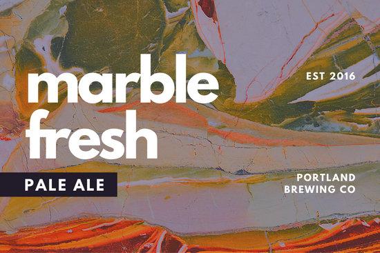 Pink Marble Texture Beer Label