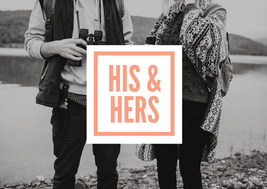 His & Hers Business Postcard