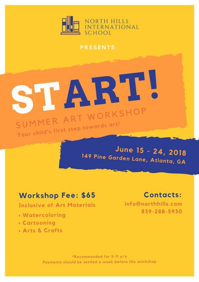 Summer Workshop School Poster