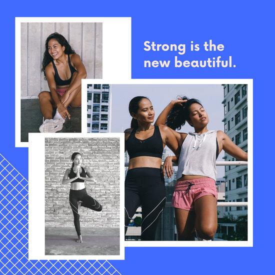 Blue Grid Fashion Collage Social Media Graphics