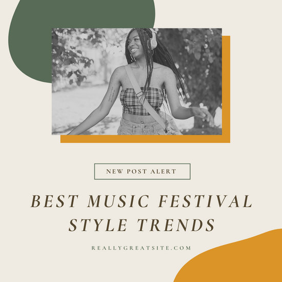 Mustard and Olive Chic Lifestyle Blogger Blog Post Social Media Graphics