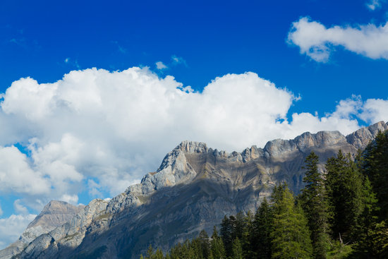 Dieablerets Mountain Rifge in High Switzerland Alps