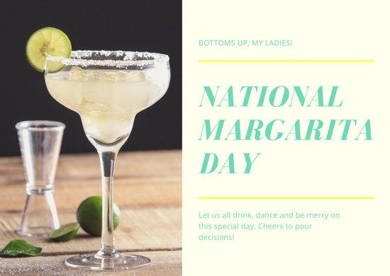 Green Photo Greeting National Margarita Day Card