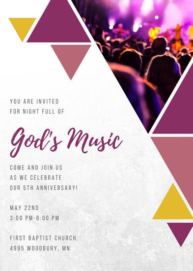 Geometrical Night Church Event Invitation