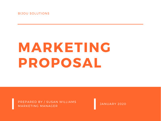 Orange & White Minimal Modern Simple Marketing Proposal Presentation