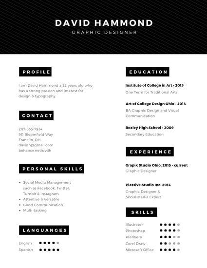Minimal Professional Resume