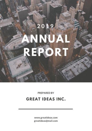 White Simple Photo Annual Report