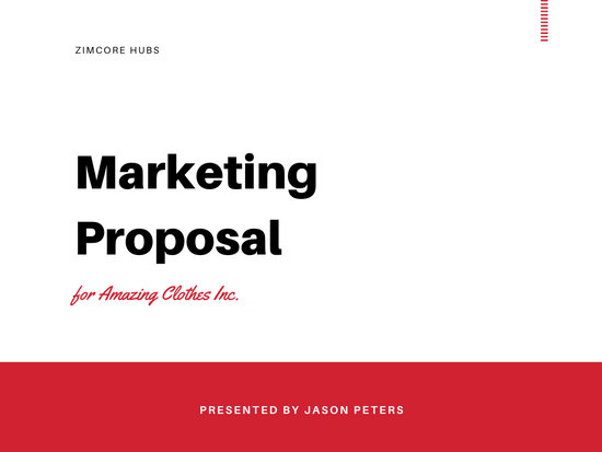 Red and Black Buildings Marketing Proposal Presentation