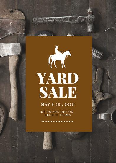 Yard Sale Promo Flyer