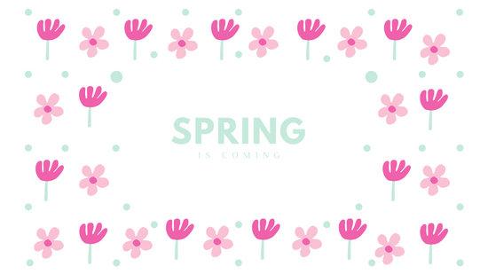 Pink Floral Patterned Desktop Wallpaper