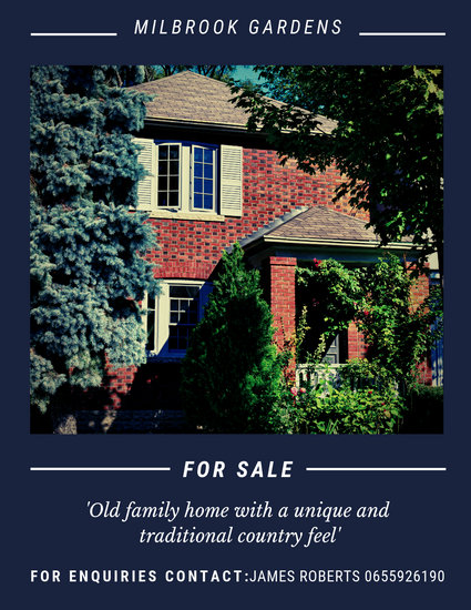 Red-Brick House Real Estate Flyer