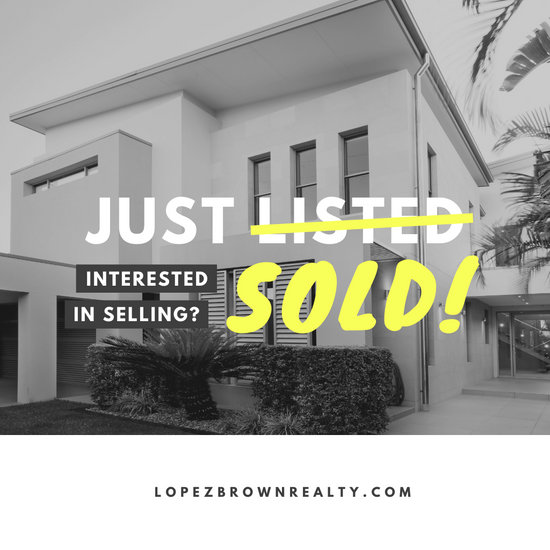 Monochromatic Just Sold Real Estate Social Media Graphic
