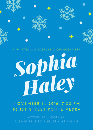 Winter Wonderland Quinceanera Invitation