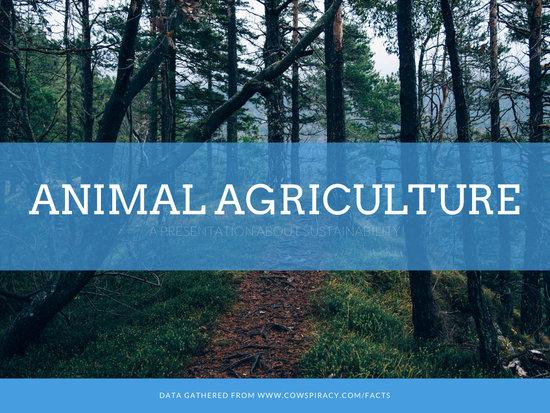 Blue Nature Photo Professional Agriculture Presentation