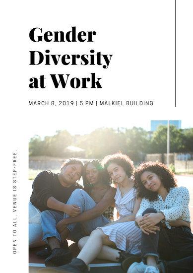 White Photo International Women's Day Poster