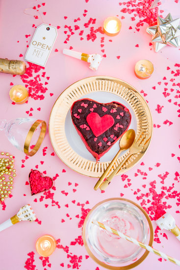 Homemade Heart-Shaped Cake with Decors