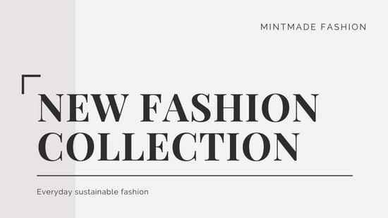 Cream and White New Fashion Collection Presentation
