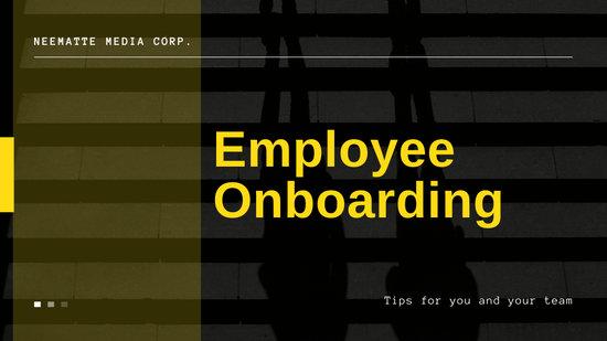 Black and Yellow Onboarding Bigger Bolder Better Professional Presentation