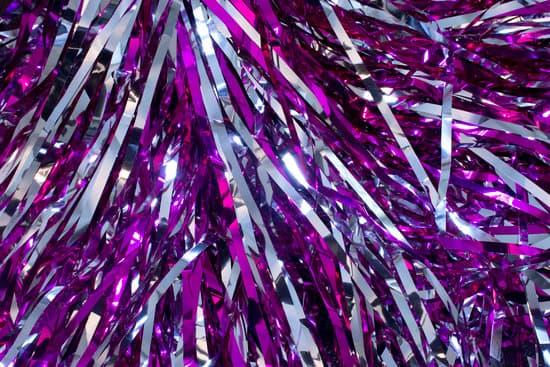 Cheerleader Silver And Purple Pom Poms