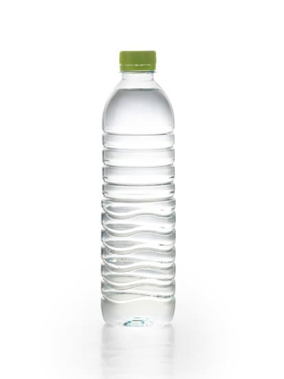 plain plastic water bottle