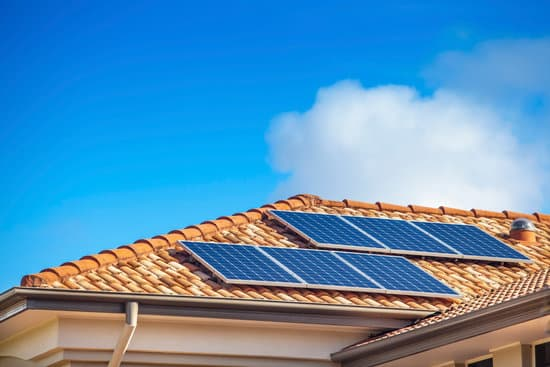 Installed Solar Panels on a House Roof